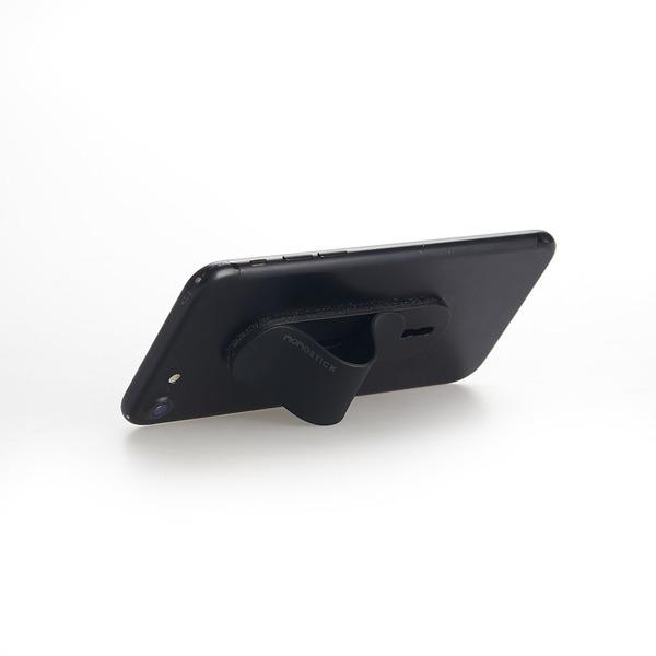 alvi Soporte teléfono móvil Momostick Color negro Soporte y sujeción de dedo para Smartphone Ajustab