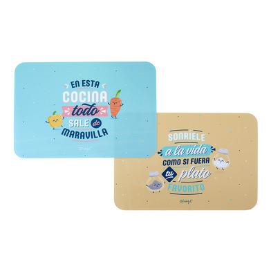 Balvi Individual MrWonderful ES Set de 2 manteles individuales Idioma: Español Plástico PP 40cm