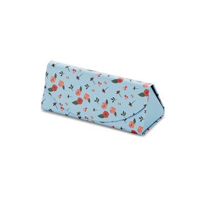 alvi Estuche para gafas plegable Bloom Color azul Estampado Funda rígida Plegable Cierre magnético O