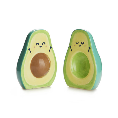 Balvi Set sale & pepe MrWonderful Avocado Set di 2 pezzi Sale e pepe Ceramica