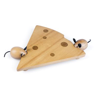Balvi Set queso I Love Cheese Magnético Set de 3 piezas para cortar y servir queso Madera/inox