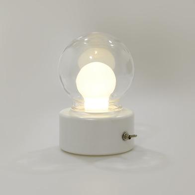 Balvi Luz Bulb Color blanco Con imán Con asa integrada Luz cálida Plástico ABS/PET