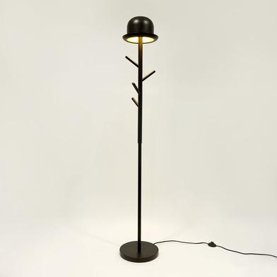 alvi Perchero & lámpara Chapeau Color negro percheros de pie Perchero de pie + lámpara 2 en 1 Con di
