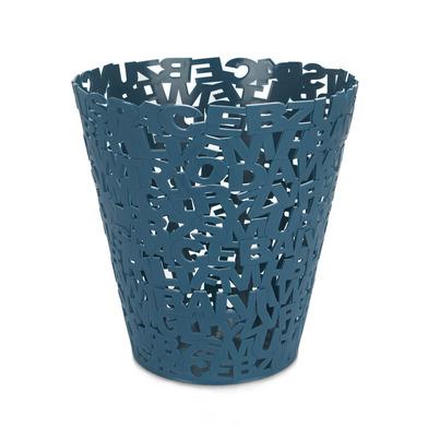 alvi Papelera Letters Color azul papelera original de diseño letras Ideal para oficinas, despachos,