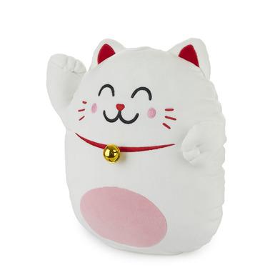alvi Cushion Mr Wonderful Lucky Cat White colour Mr Wonderful cushion Original and extra soft With D