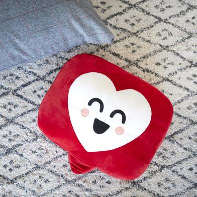 alvi Cojín Mr Wonderful Like Color rojo Cojín Mr Wonderful Original y extra suave Con diseño corazón