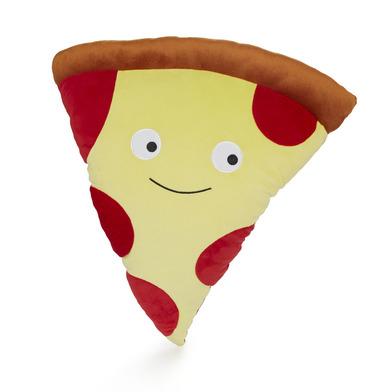 alvi Cojín Pepperoni Pizza Color rojo Cojín en forma paquete de pizza con cara feliz Cojín grande, c