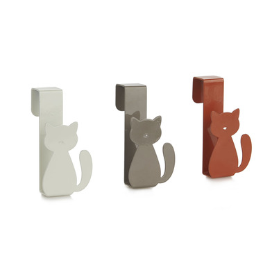 alvi Drawer hook Meow! Brown, Gray And White colour Door hooks for hanging kitchen cloths, bath towe