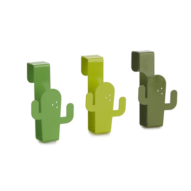 alvi Colgador cajón Cactus Color verde Ganchos para puerta para colgar paños de cocina, toallas de b