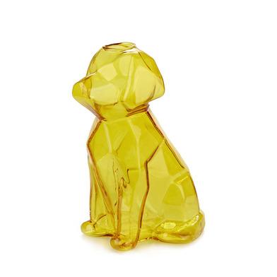 alvi Florero Sphinx Color ambar Jarrón cristal ambar en forma de perro Floreros decorativos modernos