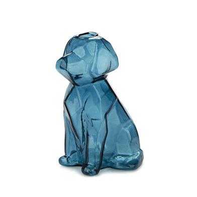 alvi Florero Sphinx Color Esmeralda Jarrón cristal esmeralda en forma de perro Floreros decorativos