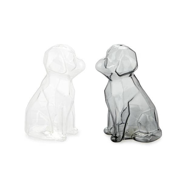 alvi Salt & pepper set Sphinx Transparent And Gray colour salt and pepper shakers shaped dog Cookwar