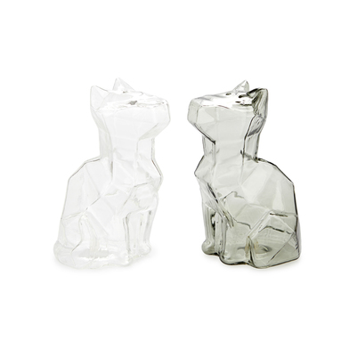 alvi Salt & pepper set Sphinx Transparent And Gray colour salt and pepper shakers shaped cat Cookwar