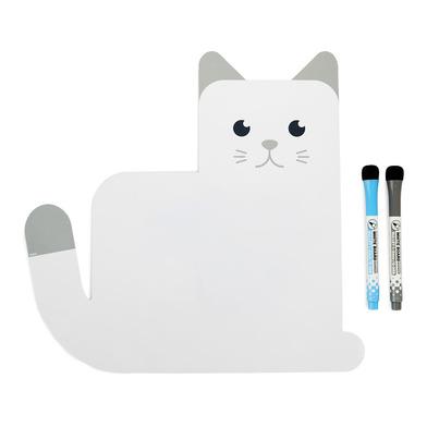 alvi Pizarra nevera magnética Meow! Color blanca Original Pizarra de Planificación ideal para record
