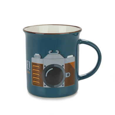 Balvi Mug Smile! Blue colour Mug Original vintage colors Design camera Ceramic 9,2x11,7x8,5 cm