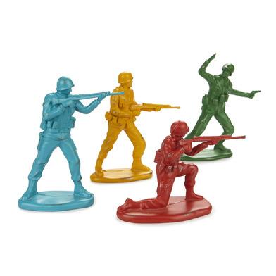 alvi Figuras decorativas Platoon Soldaditos de colores de gran tamaño Set de 4 soldados militares co