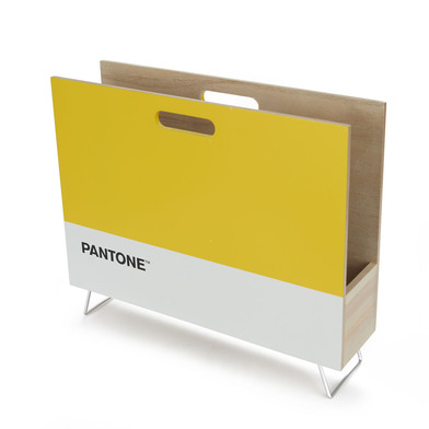 alvi Revistero Pantone Color amarillo Decorativo organizador para revistas, diarios, documentos, con
