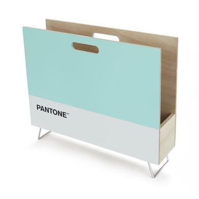 alvi Revistero Pantone Color turquesa Decorativo organizador para revistas, diarios, documentos, con