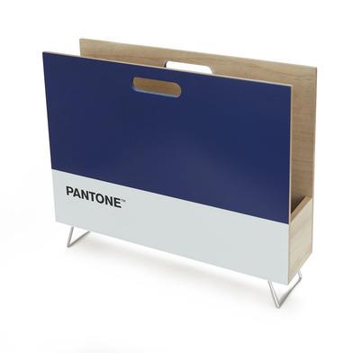 alvi Revistero Pantone Color azul Decorativo organizador para revistas, diarios, documentos, con dis
