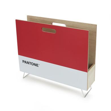 alvi Revistero Pantone Color rojo Decorativo organizador para revistas, diarios, documentos, con dis