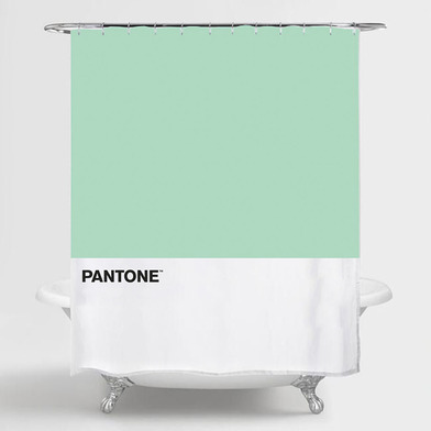 alvi Cortina baño Pantone Color verde cortina impermeable para la ducha y bañera , de estilo moderno
