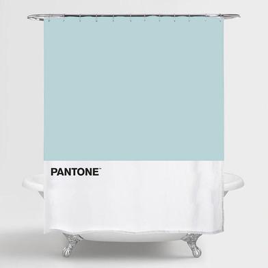 alvi Cortina baño Pantone Color azul cortina impermeable para la ducha y bañera , de estilo moderno