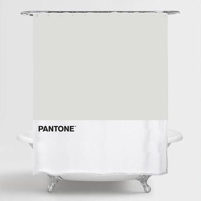 alvi Cortina baño Pantone Color gris cortina impermeable para la ducha y bañera , de estilo moderno