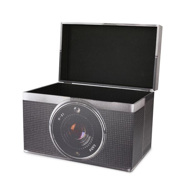 alvi Caja almacenaje Vintage Color gris Contenedor de almacenamiento original y bonito con forma de