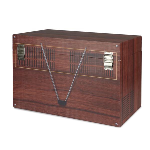 alvi Caja almacenaje Vintage Color marrón Contenedor de almacenamiento original y bonito con forma d
