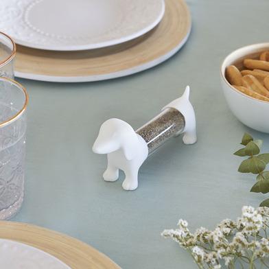 Balvi Tpick holder Teckel White colour Shaped dog Acrylic/PVC plastic