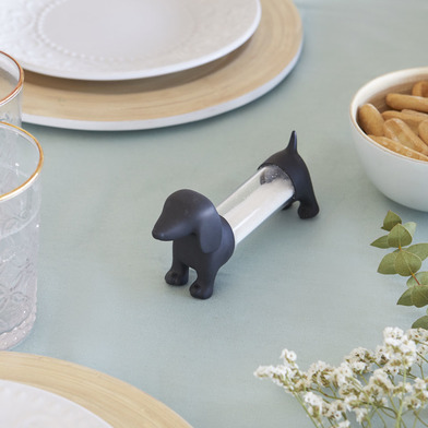 Balvi Tpick holder Teckel Gray colour Shaped dog Acrylic/PVC plastic