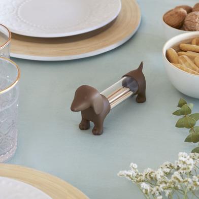 Balvi Tpick holder Teckel Brown colour Shaped dog Acrylic/PVC plastic