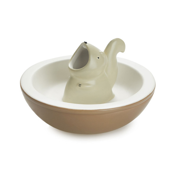 alvi Snack tray Hungry Squirrel Two-in-one snacks bowl With inner compartment for nut shells or oliv