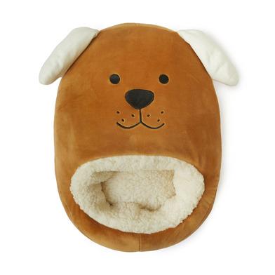 alvi Calienta pies Woof! Color marrón Mantén calientes tus pies Bolsa suave y cómoda con diseño dive