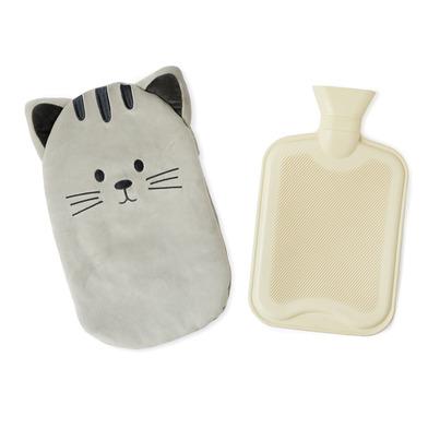 alvi Bolsa agua caliente Kitty Color gris Botella de agua caliente con cubierta suave en forma de ga