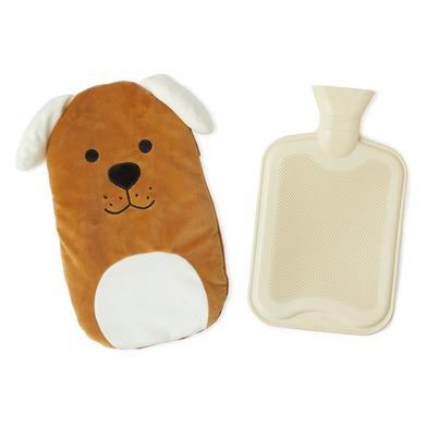 alvi Bolsa agua caliente Woof! Color marron Botella de agua caliente con cubierta suave en forma de