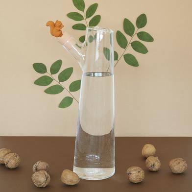 alvi Bottiglia Squirrel Colore Marrone bottiglia da 1 litro originale con coperchio e un rivestiment