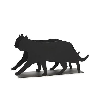 Balvi Revistero Feline Color negro Práctico y decorativo en forma de gato Hierro 21,5 cm