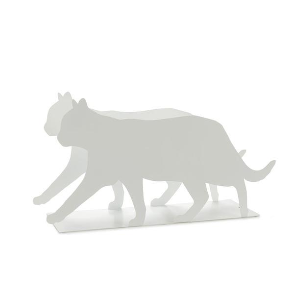 Balvi Revistero Feline Color blanco Práctico y decorativo en forma de gato Hierro 21,5 cm