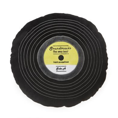 Balvi Cushion Soundtracks Black colour Shaped vinyl record Embroidery details Polyester 37 cm