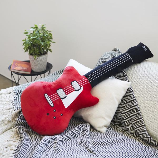 Balvi Cojín Superstar En forma de guitarra eléctrica Con detalles bordados Poliéster