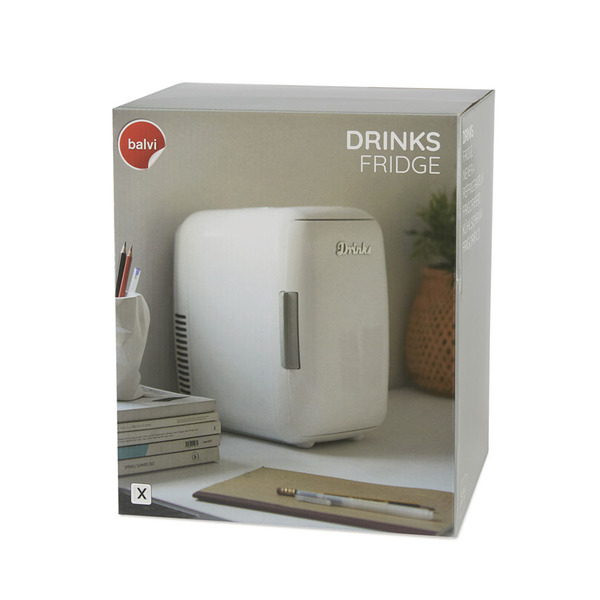 alvi Nevera Drinks Color blanco Mini nevera portátil Matiene sus alimentos o bebidas a la temperatur