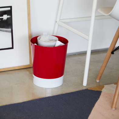 alvi Papelera MrRecycle Color gris Recipiente auxiliar para separar residuos domésticos Se puede col