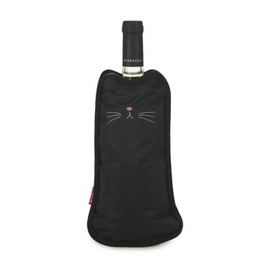 alvi Enfriador de botellas de vino Meow Color negro Funda enfriadora en forma de gato Con bandas elá