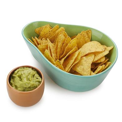 alvi Set aperitivo MrWonderful Avocado Color verde Ideal para servir nachos y guacamole Cerámica 22