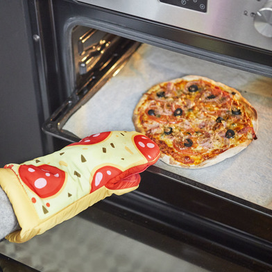 alvi Manopla cocina y horno Pepperoni Pizza En forma de porción de pizza Resistente al calor 250ºC P