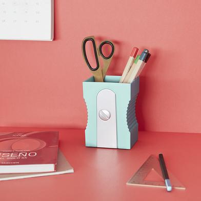 alvi Portalápices Sharpener Color turquesa Bote para lápices original y divertido en forma de sacapu