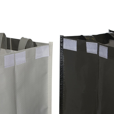 alvi Set borse riciclaggio Meow Set di 3 sacchetti (43x22x22 cm) Con maniglie misura totale: 43x66x2