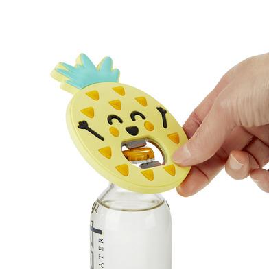 alvi Abrebotellas MrWonderful Pineapple Color amarillo Superficie suave al tacto Con forma de piña C