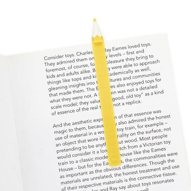 alvi Marcapáginas Color Pencil Color amarillo En forma de lápiz de color Divertido Regalo para lecto